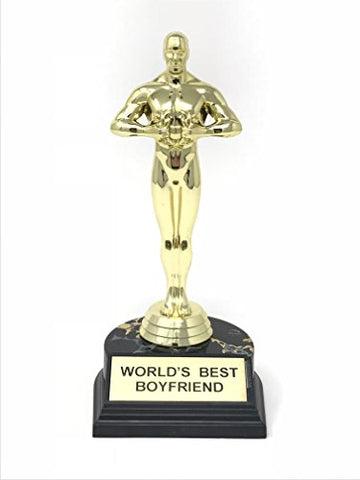 Aahs Engraving World's Best Boyfriend Trophy-7""