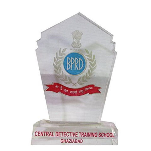 HT Wooden material with white finishing Trophy for Schools