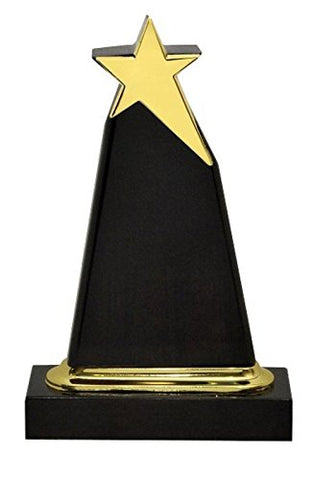 TrophyWale Wooden Trophy with PU Finish, Height: 24 CM