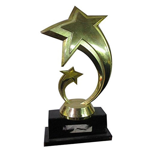 HT Golden Metal Star Gold Big Trophy