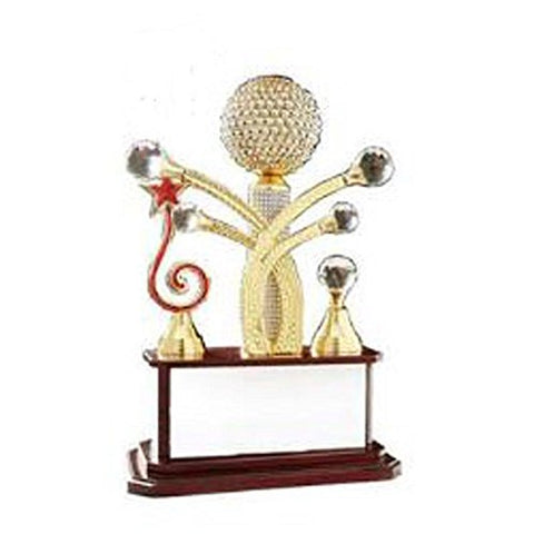 Maruti Gruh Udyog Wooden Base Metalic Superior Quality Trophy- 16""