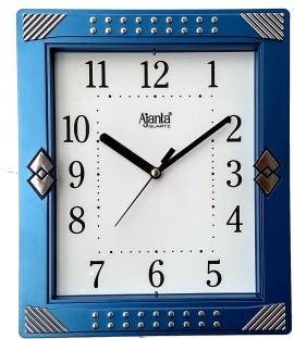 Ajanta Quartz Wall Clock with Square Dail Shape 1947 Blue For Office and Home