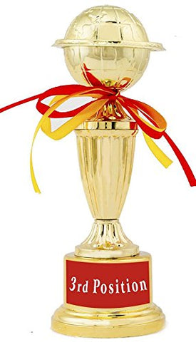 3st Position Trophy/Award/Gift By Aark India - 10 Inch Height (PC 00309)