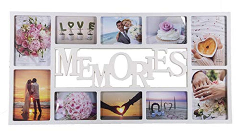 Aica Gifts 10 Picture Personalized Memories Collage Plastic Photo Frame