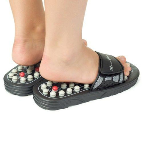 Spring Action Massage Slippers Leg Foot Massager