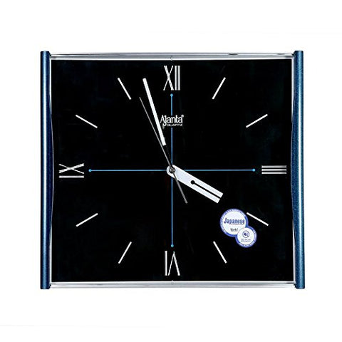 Ajanta Wall Clock 1937 Blue with Square Dail Shape Size(31X33)cm For Home & Office