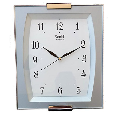 Ajanta 11 Inches Wall Clock for Home/Offces / Bedroom/Living Room/Kitchen (Step Movement, White)