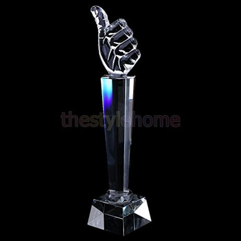 ELECTROPRIME 1Pc Crystal Trophy Achievement Trophy for Championship Thumb 31cm