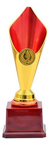 Bytes Golden Rose B Metallic Fiber Trophy, 24.13 cm x 8.89 cm x 24.13 cm (Gold)