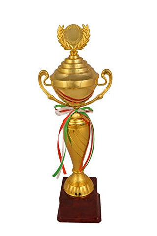 Trophy Junction Metallic-Fiber Trophy (Gold, 49.5 cm)