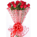 Floralbay Red Roses Bouquet Fresh Flowers in Cellophane Wrapping (Bunch of 20)