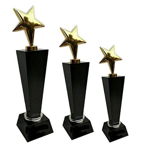 Z S Novelties Brown Wooden Supirior Quality Trophy_ZS 219 - Set of 3