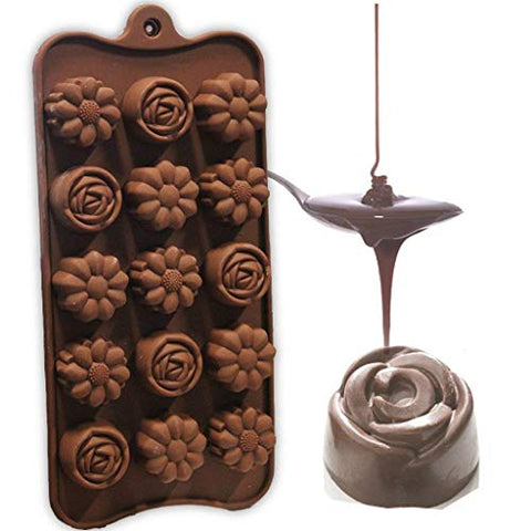RIANZ All New Silicone Flower Shape Chocolate Mould (1 Pc)