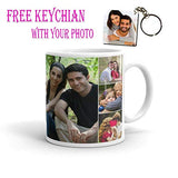 Ashani Creation Personalize Bone China Ceramic Mugs with Your Photo and Message