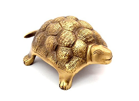 Two Moustaches Brass Vaastu Tortoise
