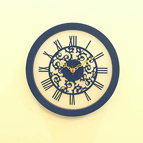 Analog Roman Wall Clock Latest | Exclusively Made by FUFUH Only (Company: Miracleh Baby Kreations) Beware of Fake Sellers | Handmade Unique Designer Black Wall Clock