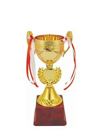 Saiyam World Cup Winner Trophies Awards Metallic Fiber Trophy Size - 8.5 inch