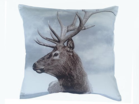 "Beddify Set of 2 Cushion Cover 100% Cotton Super Soft Reindeer Print (Both Side Printed) Decorative (16""x16"") with Premium Zipper Closure"