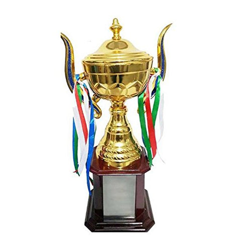 Maruti Gruh Udyog Wooden Base Metalic Superior Quality Trophy- 17""