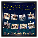 Arohi Art World, Personalized Best Friends Forever Photo Collage Photo Frame (Size 12x12 Inch)