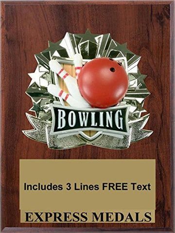 Bowling Plaque Trophy Award