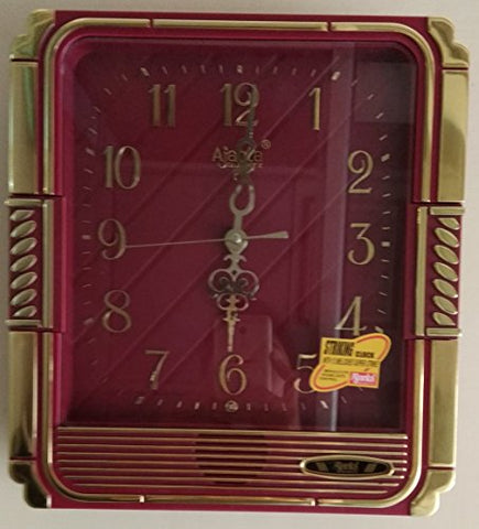 Ajanta Plain Musical Clock (Red, 257)