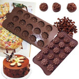 Allmart Enterprise Silicone Chocolate Moulds Set of 3, Assorted Designs