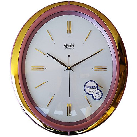 Ajanta 13 inches Wall Clock for Home/Offces/Bedroom/Living Room/Kitchen (Silent Movement, Pink)