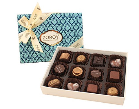 ZOROY Luxury Chocolate Signature Assorted Chocolates Box - 12 Pieces