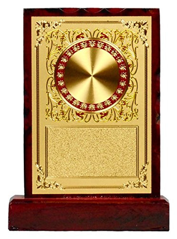 GEETHA HANDICRAFTS Wooden Trophy, 15 cm x 6 cm x 30 cm (Gold)