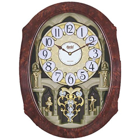 Ajanta Plastic Wall Clock (56 cm x 42 cm x 12 cm, Brown)