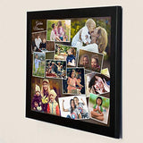 AJANTA ROYAL Personalized Synthetic Wood Photo Collage (16x16-inches,Black):A-107A