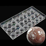 JoyGlobal Football Design Chocolate Mould, Transparent