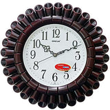 Ajanta Oreva Analog Wall Clock (40 cm x 40 cm - Red Wood)