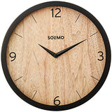 "Amazon Brand - Solimo 12"" Wall Clock - Paramount Paneling (Silent Movement, Black Frame)"