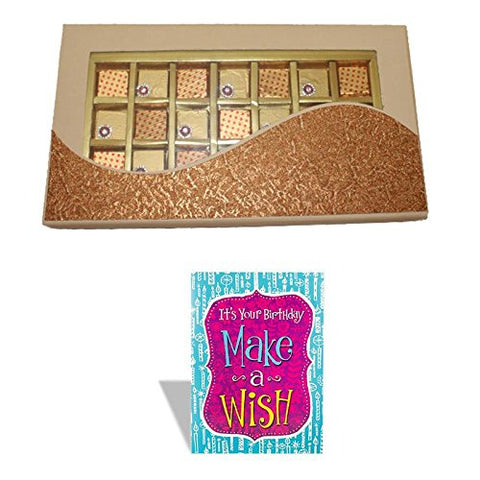 Fancy Chocolate Box With Happy Birthday Greeting Card 521