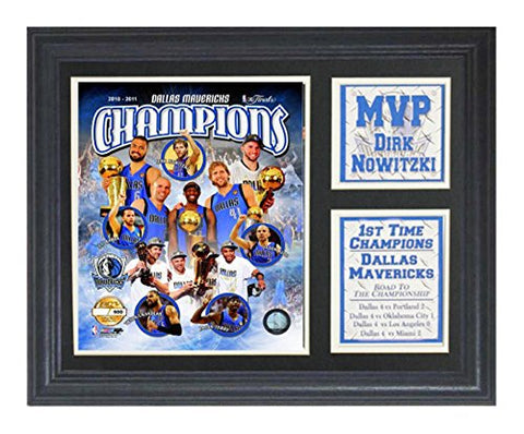 Encore Select 142-07 NBA Dallas Mavericks Deluxe Frame 2011 Champions Print, 11-inch by 14-inch