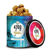 4700BC Popcorn: Festive Gift Box, 4 Tins, 1 Cheese Popcorn, 1 Caramel Popcorn and 2 Chocolate Popcorn