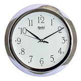 Ajanta Wall Clock For Home And Offices (25 cm x 25 cm , Step Movement, White)