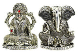 ME & YOU Beautiful Silver Plated Laxmi Ganesh Showpiece for Diwali Gifts, Home & Office Decoration Goddess Laxmi Statue for Home, Office, Car Dashboard and Gift Item