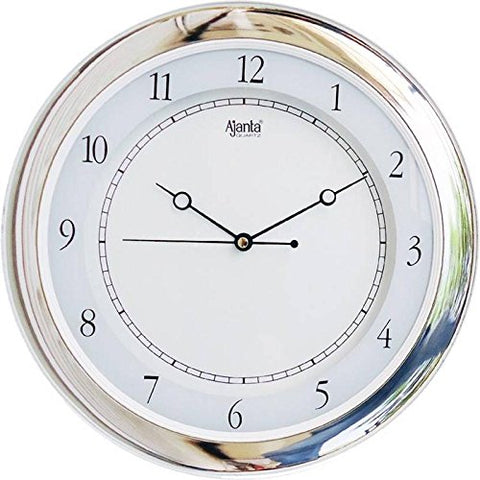 Ajanta Quartz Wall Clock with Round Dail Shape 597 White For Office and Home