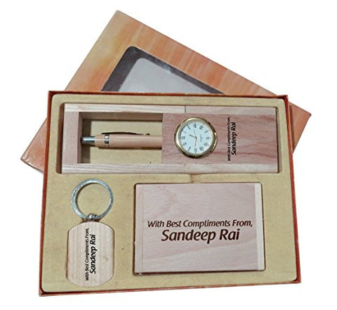 Corporate Gift Set Personalised Pen Holder Engraved Name Or Simple