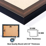 "AJANTA ROYAL A-86B Personalized Synthetic Wood Photo Frame Collage Watch (13""x13"" inch, Brown)"