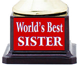 AARK INDIA Best Sister Trophy Award (Gold and Brown, 7. 5-inch)