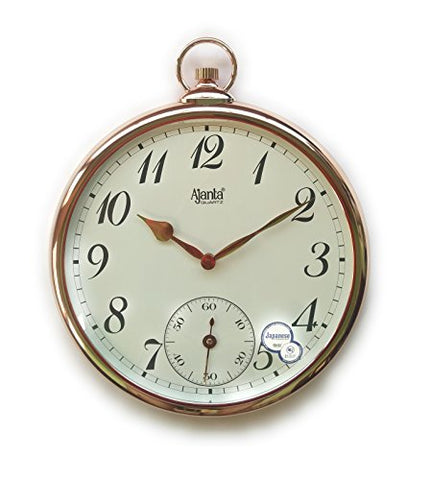 Ajanta Premium Analog Wall Clock (Silent/Sweep Movement) Copper