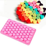 Home Cube Ice Cube Tray Silicone Bakeware Mould For Chocolate And Ice Cube 55 Cavity Chocolate Mold Bakeware Small Heart - Random Color