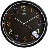 Ajanta 12 inches Wall Clock for Home/Offces/Bedroom/Living Room/Kitchen (Silent Movement, Black)