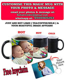 Ashani Creation Color Changing Personalised Photo Magic Mug, 325ml