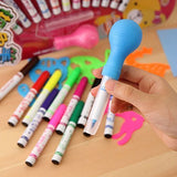 Gifts Online Set of 12 Magic Spray Blow Marker Pens (Assorted Colors)