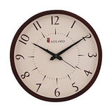 Amazon Brand - Solimo 11.25-inch Wooden Wall Clock (Silent Movement, Dark Brown Frame)